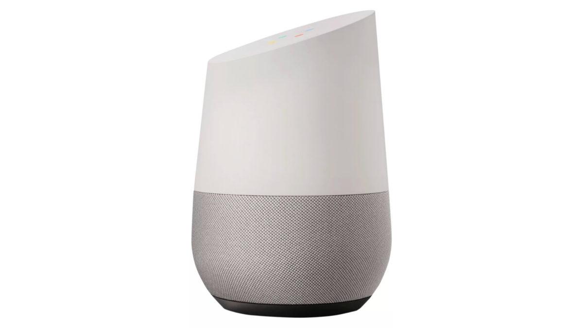 Google Home smart speaker press render