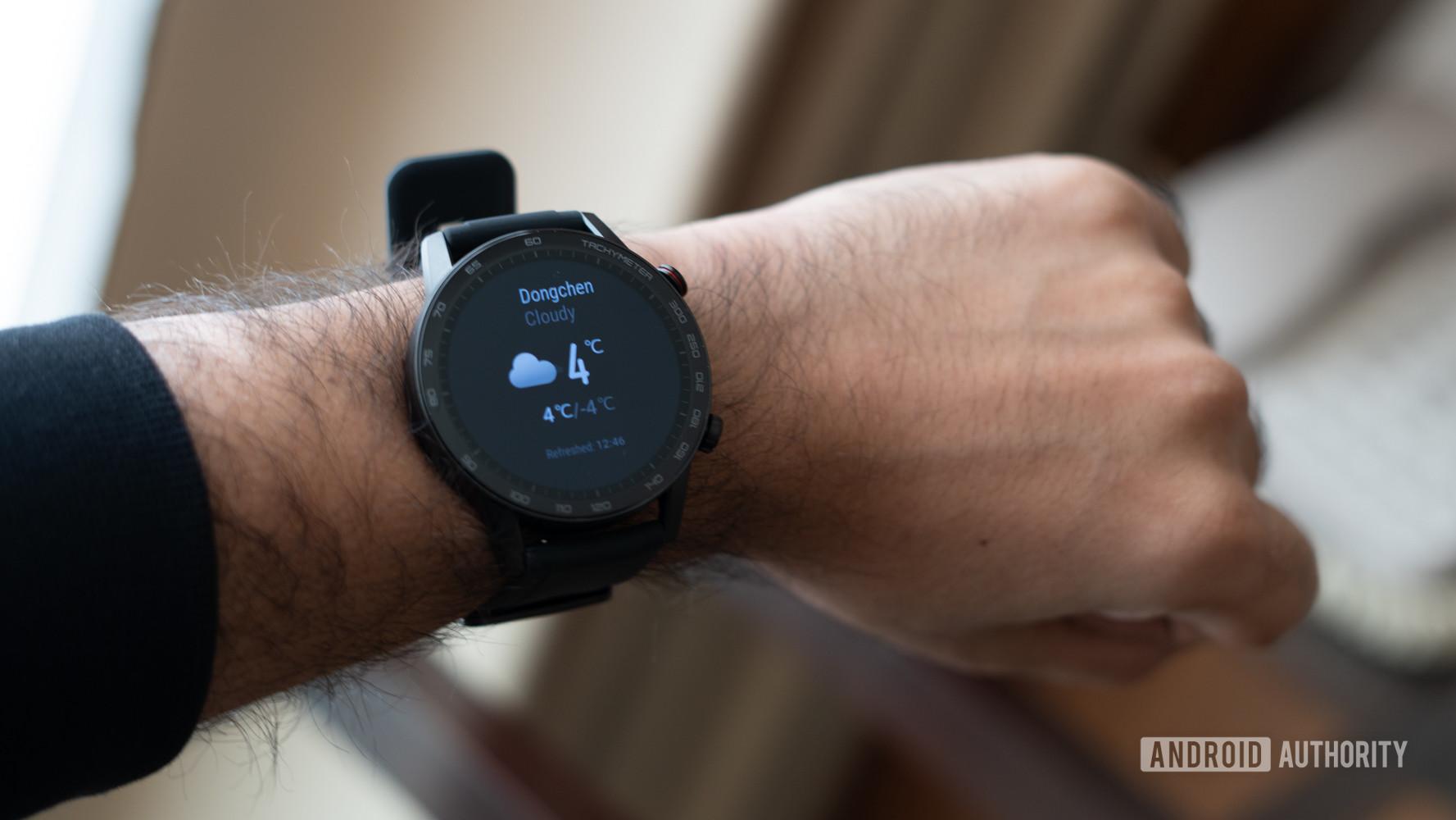 The Honor Watch Magic 2 on a wrist.