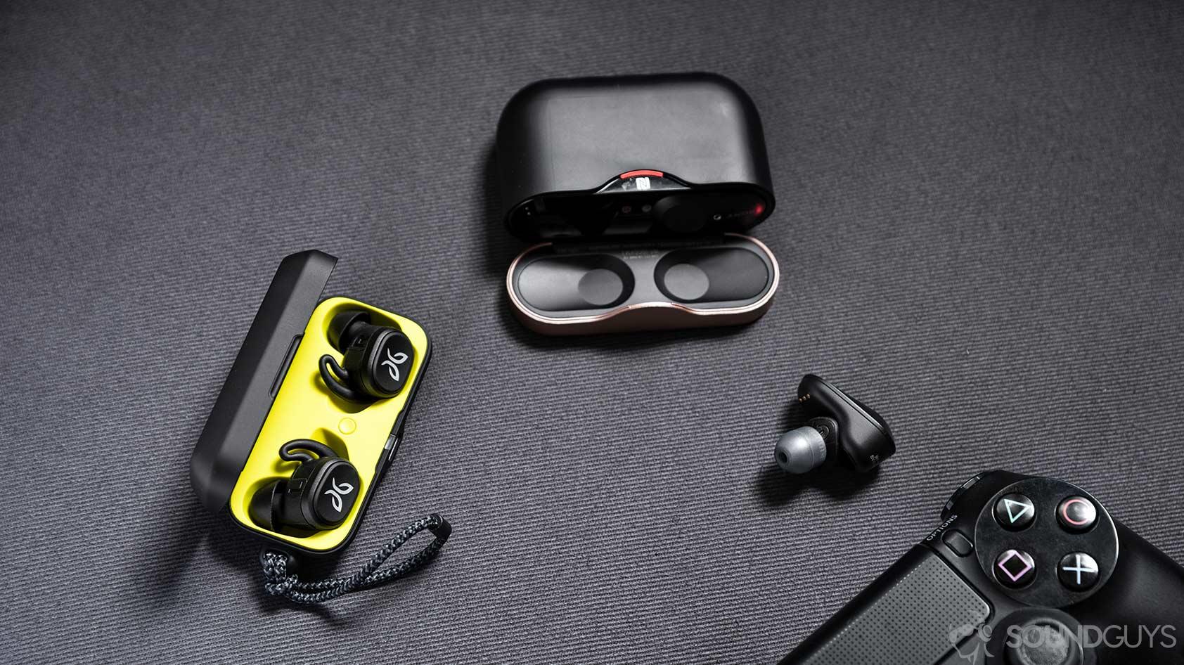 Jaybird Vista 4 earbuds charging case USB C Sony WF1000XM3 PS4 PlayStation controller
