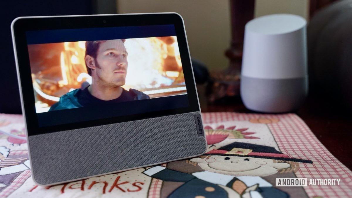 Lenovo Smart Display 7 review on end table