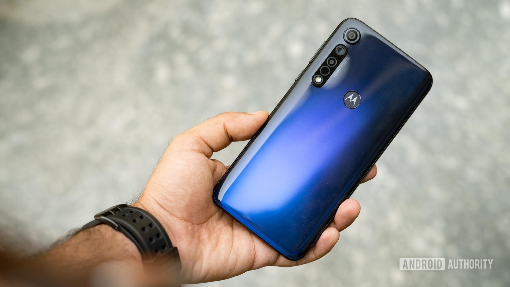 Moto G8 Plus in hand