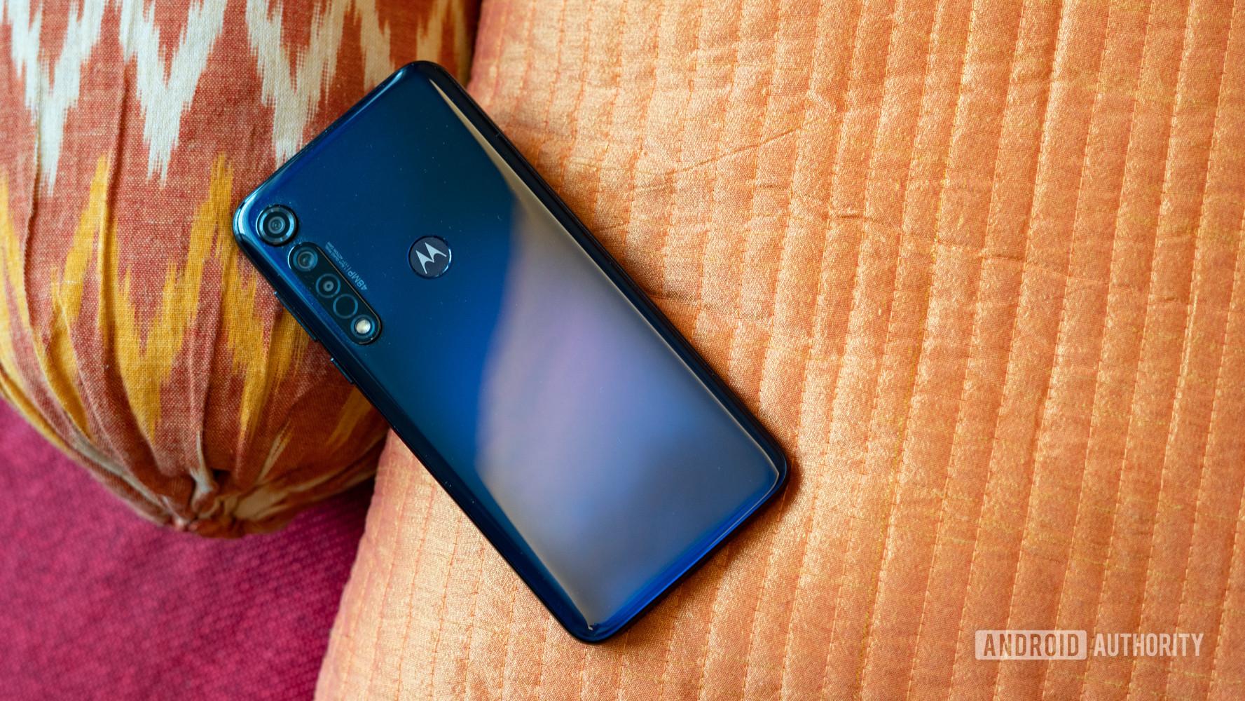 Moto G8 Plus profile show with rear gradient