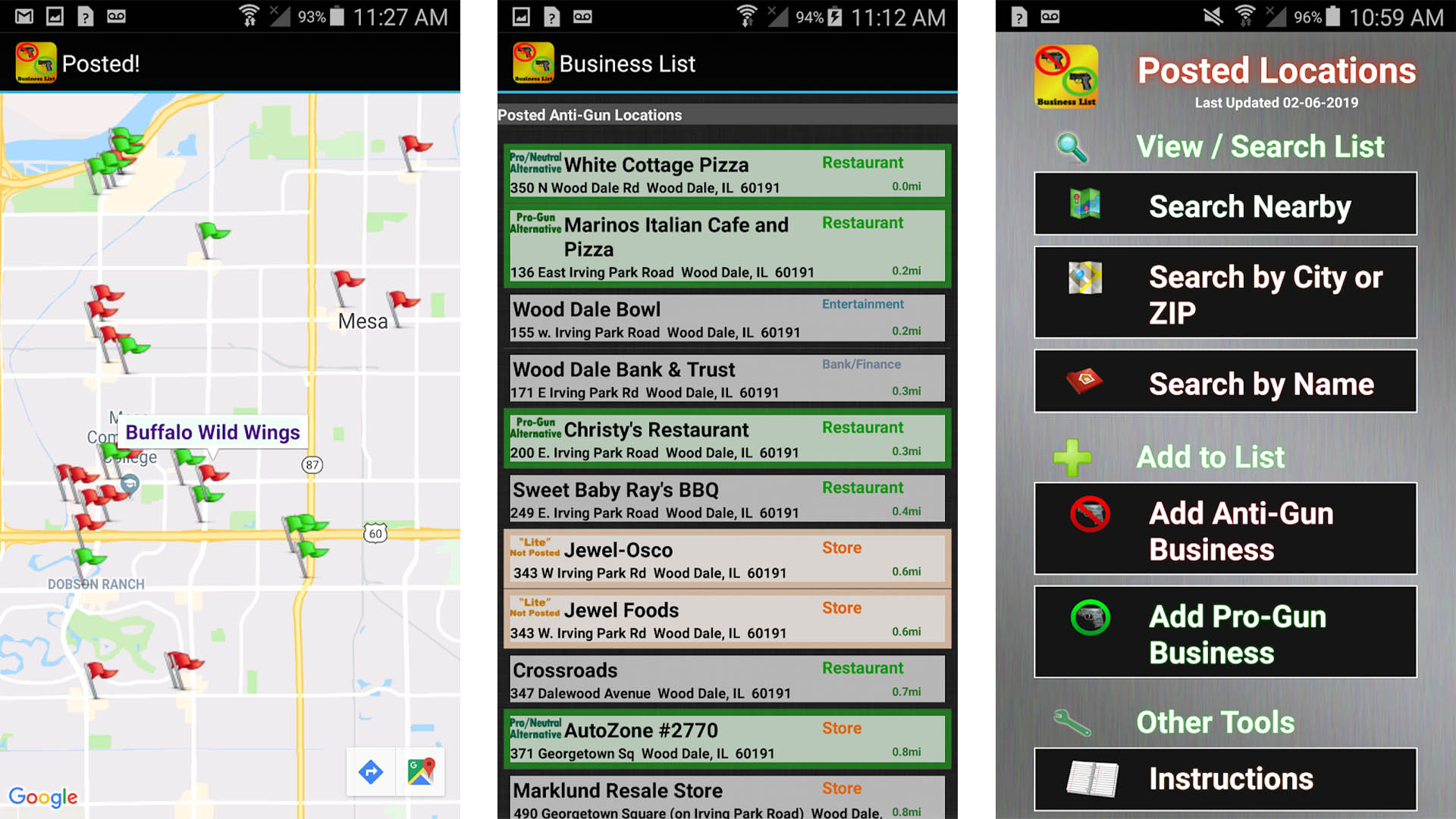 Posted screenshot for the best gun apps for android list