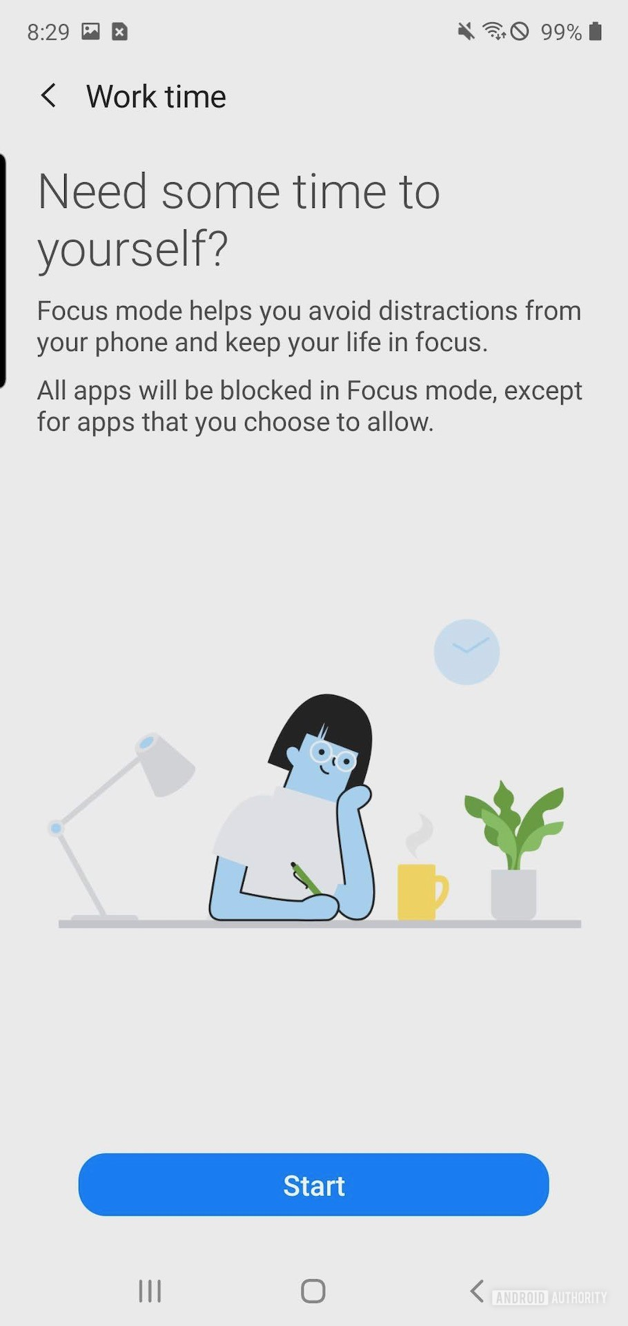 Samsung One UI 2 digital wellbeing work time