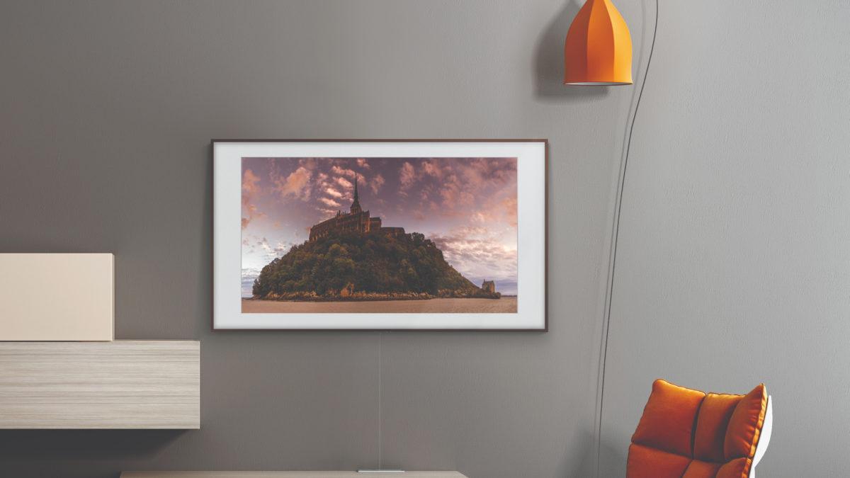 Samsung The Frame sur un mur