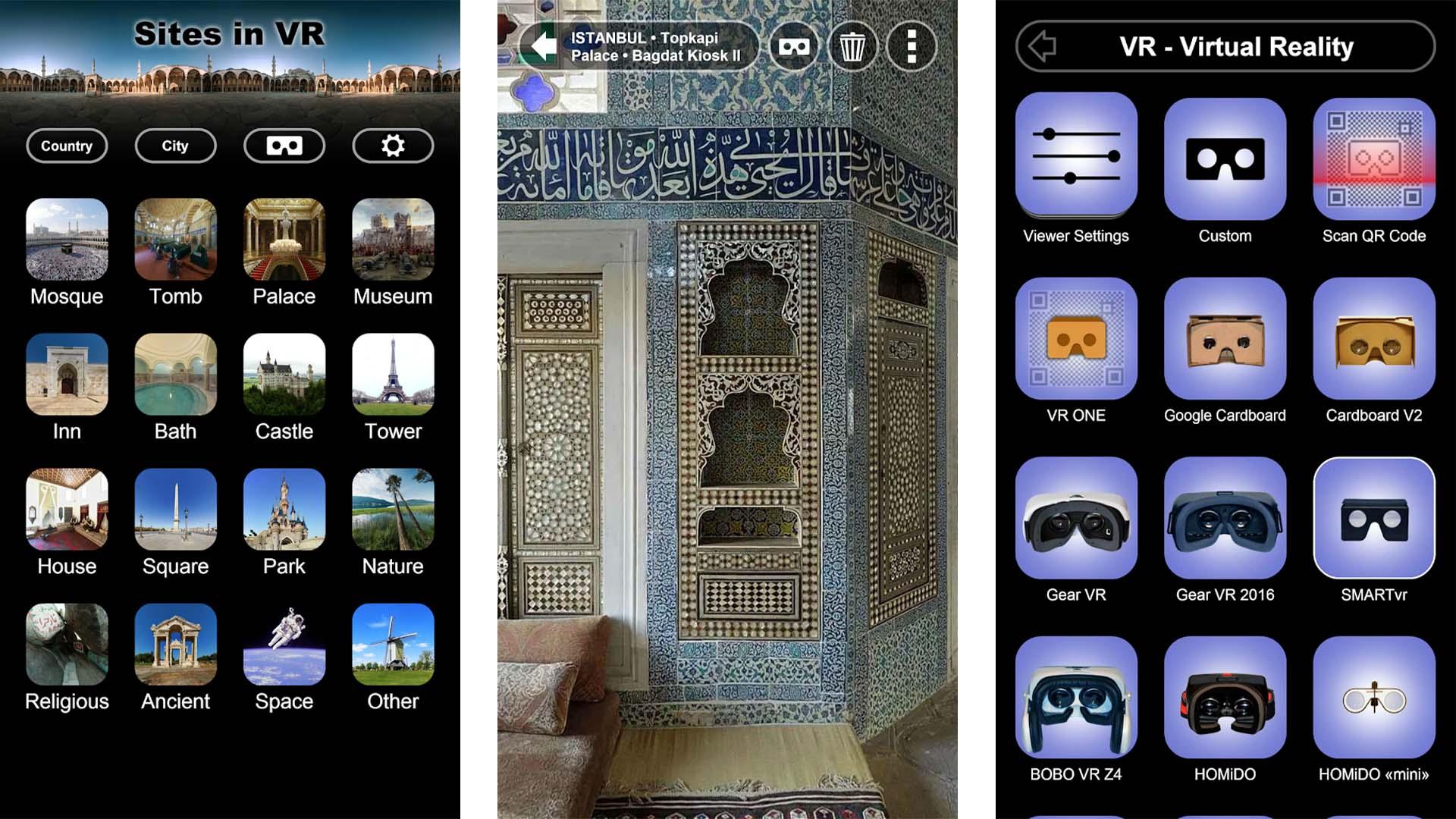 Sites in VR screenshot