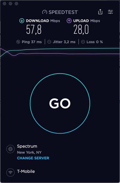 Skyroam Solis X Ookla speedtest Oct 31 2019 Brooklyn inside 1