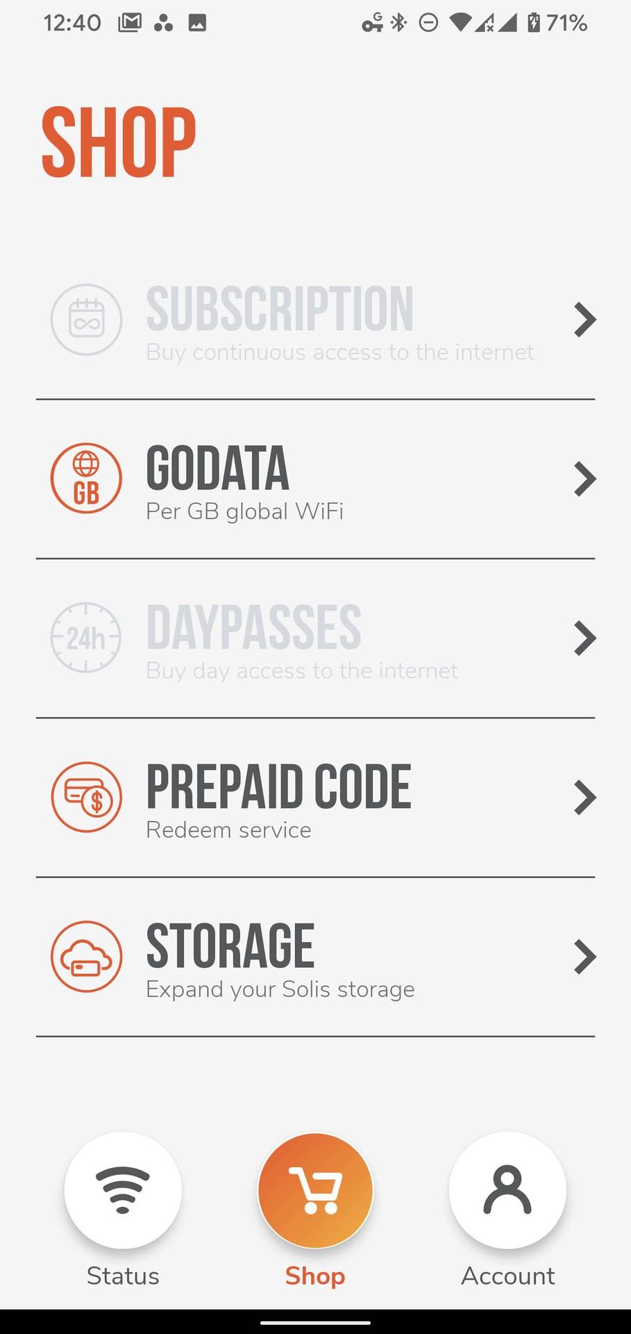 Skyroam Solis X app shop