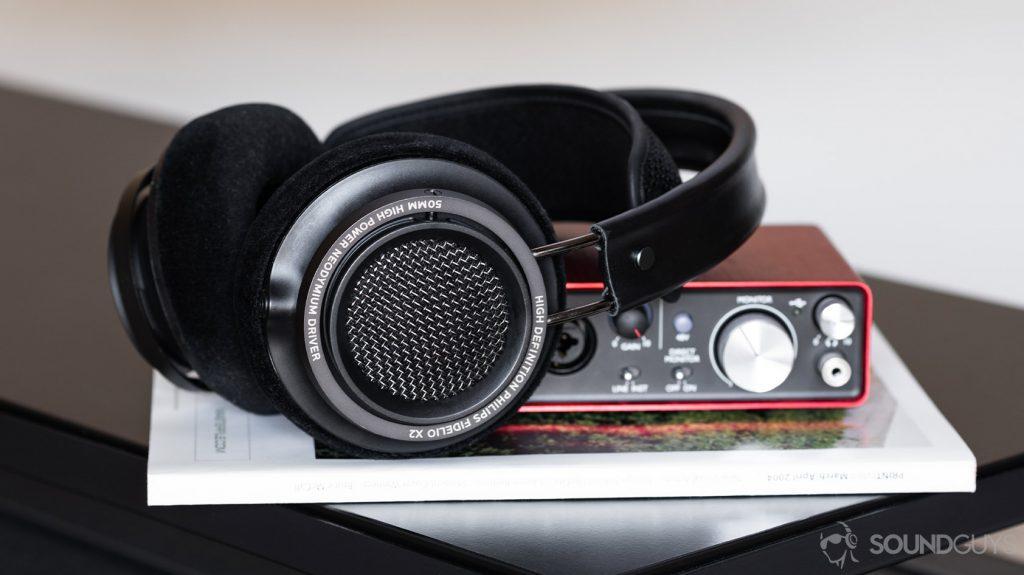 Tidal 4 Philips Fidelio open back headphones Scarlett 2i2 Focusrite