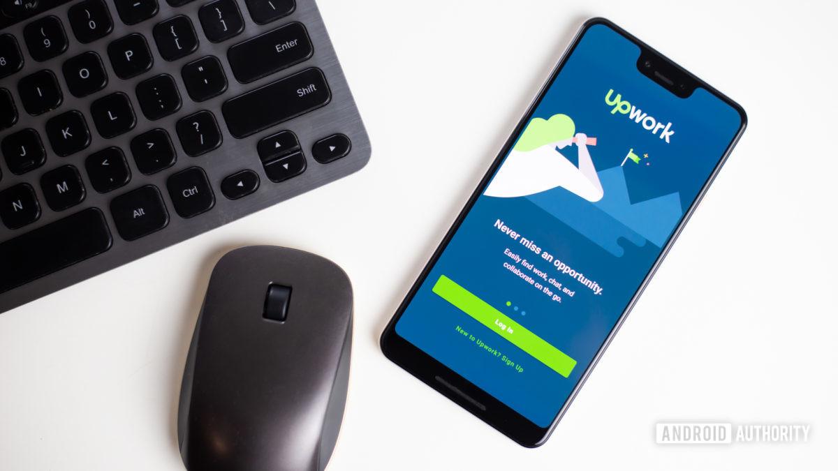 Upwork app on smartphone