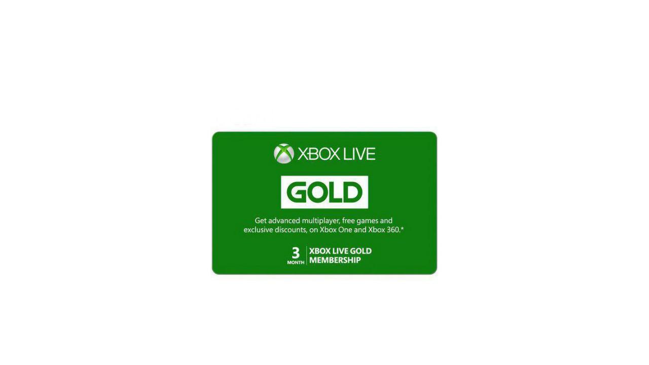 Xbox Live Gold three month membership press render