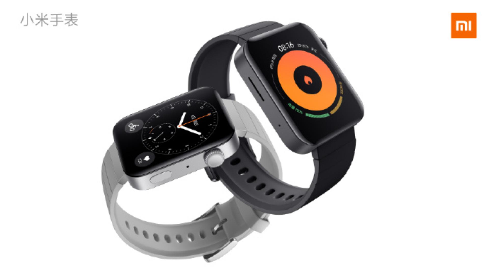 Xiaomi Mi Watch Black and Gray