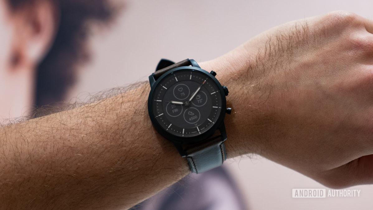 fossil hybrid hr charter hr smartwatch on wrist 4