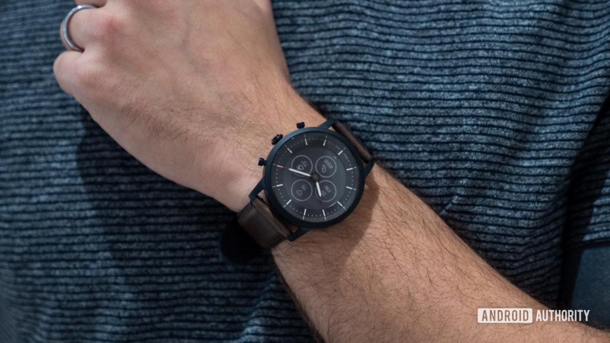fossil hybrid hr charter hr smartwatch on wrist 5
