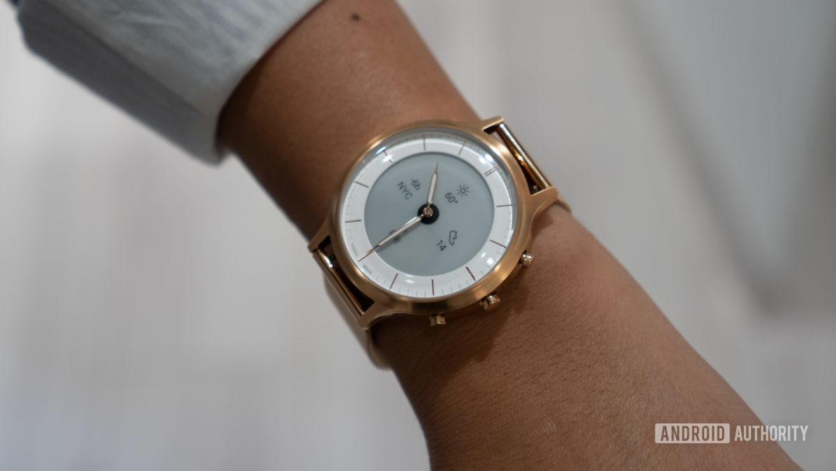fossil hybrid hr collider hr smartwatch on wrist 1