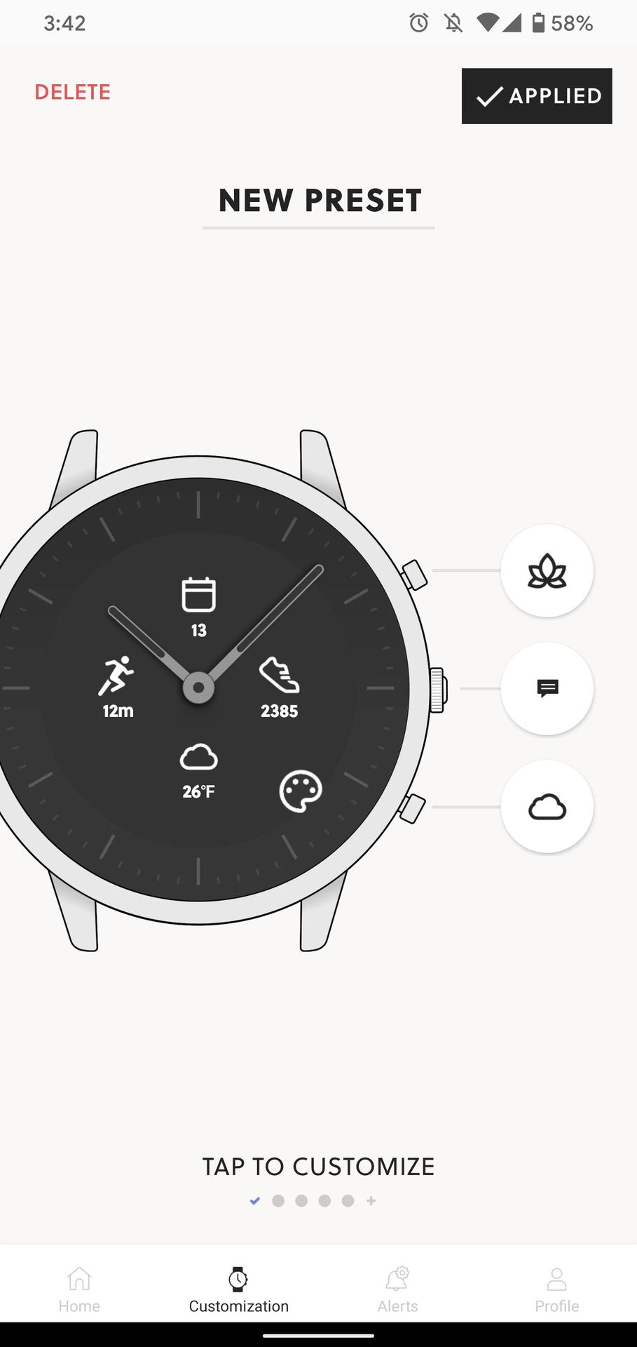 fossil hybrid hr review fossil smartwatch app screenshots customization watch face