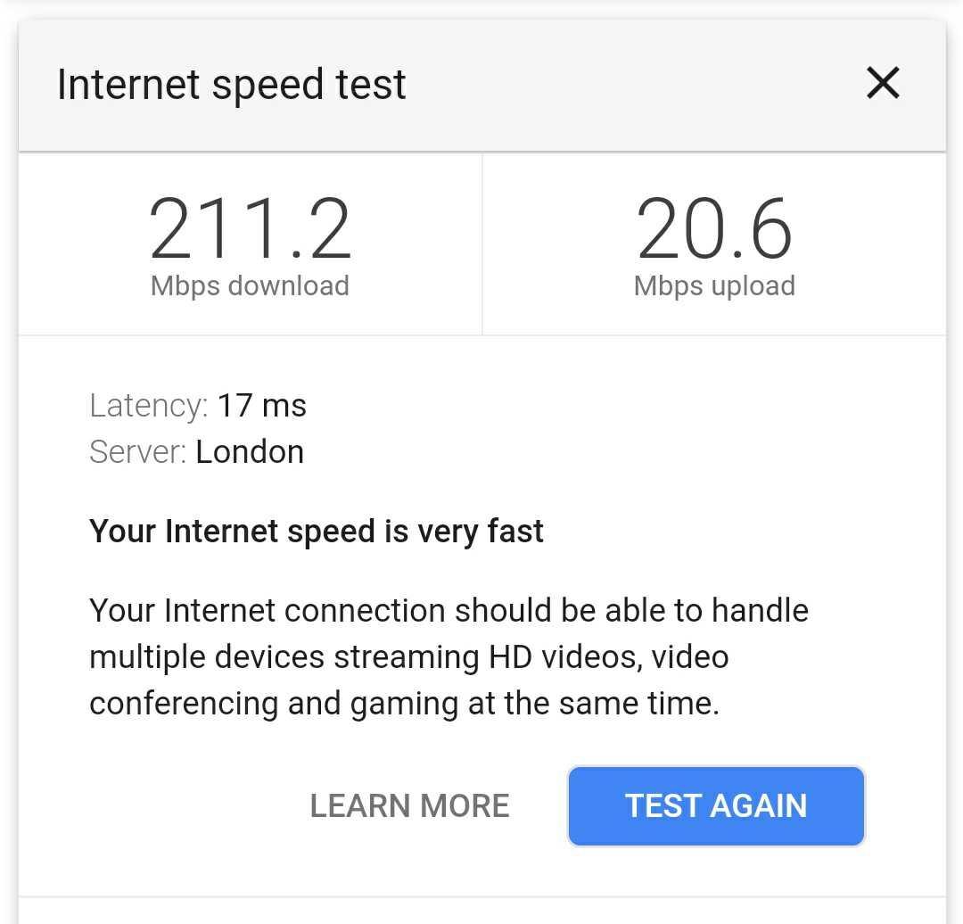 google nest wifi speed test