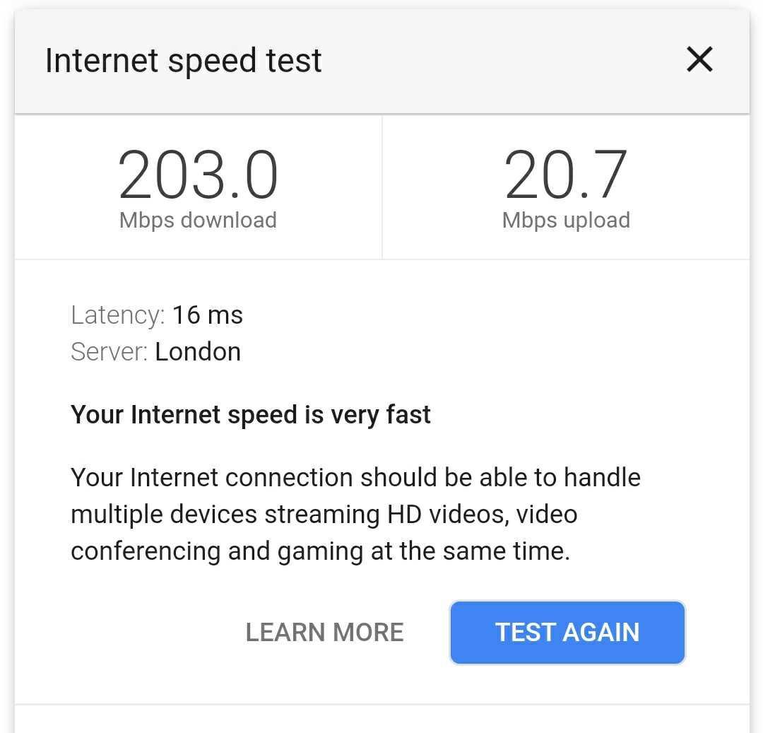 google wifi speed test 1