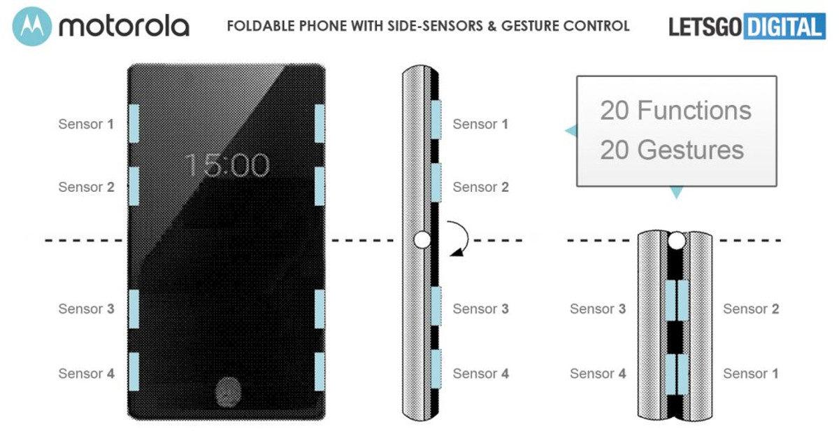 A Motorola Razr foldable phone patent image.
