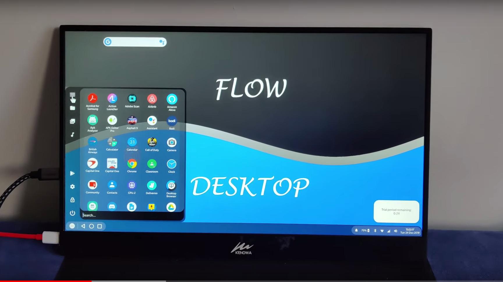 Flow Desktop launcher App