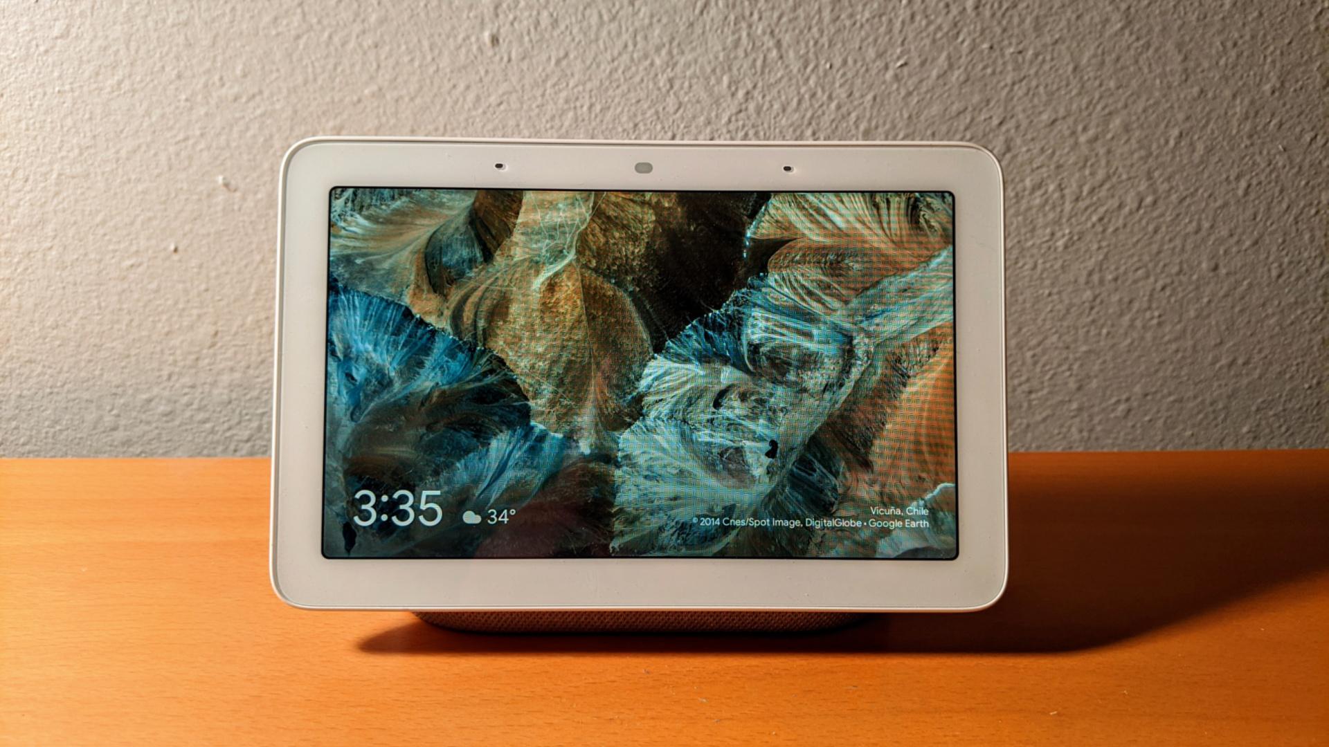 Google Nest Hub on a table