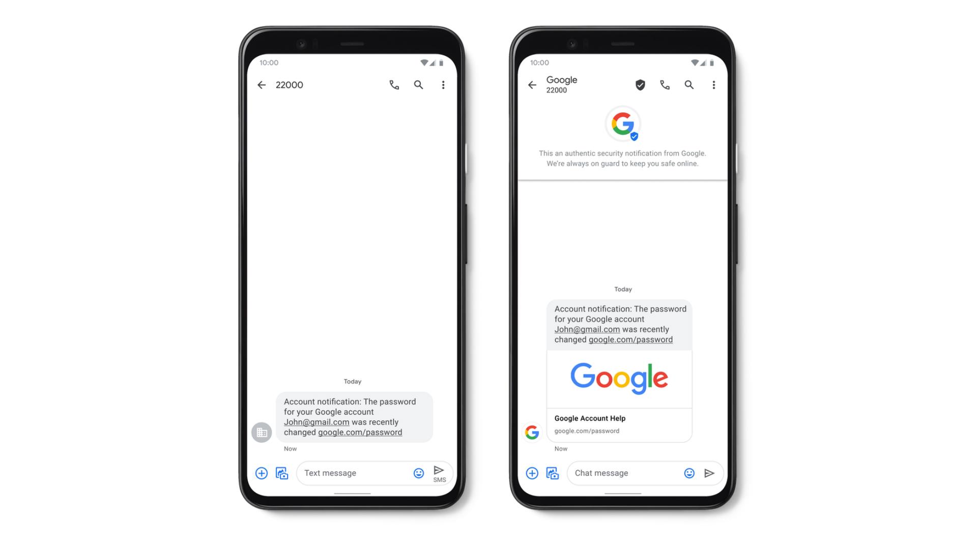 Google Verified SMS
