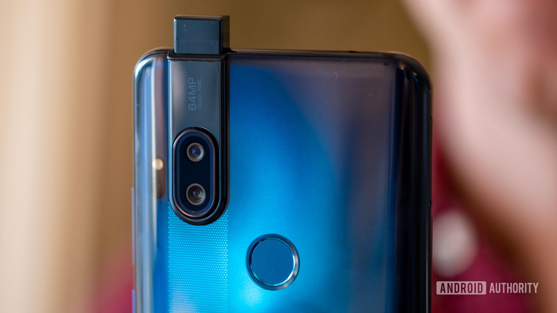 Motorola Moto One Hyper Pop Up selfie camera from behind