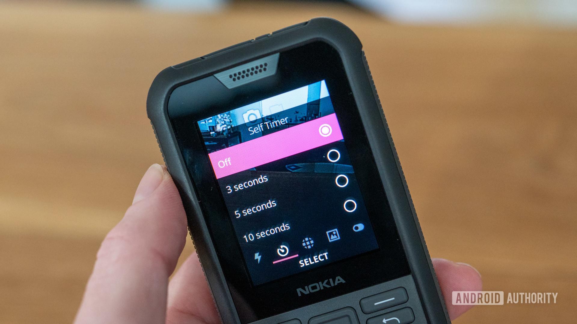 Nokia 800 Tough review camera timer