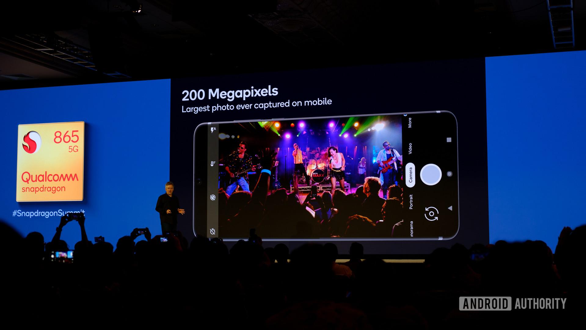 Qualcomm Snapdragon 865 200MP slides