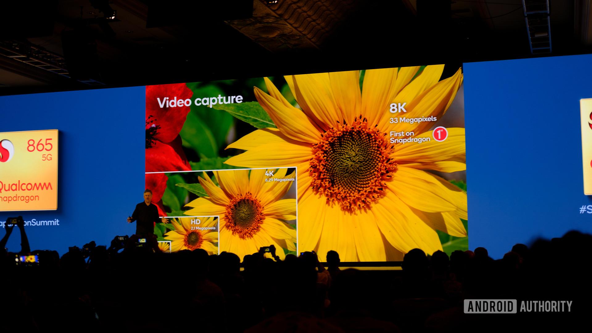 Qualcomm Snapdragon 865 8k 30p slides