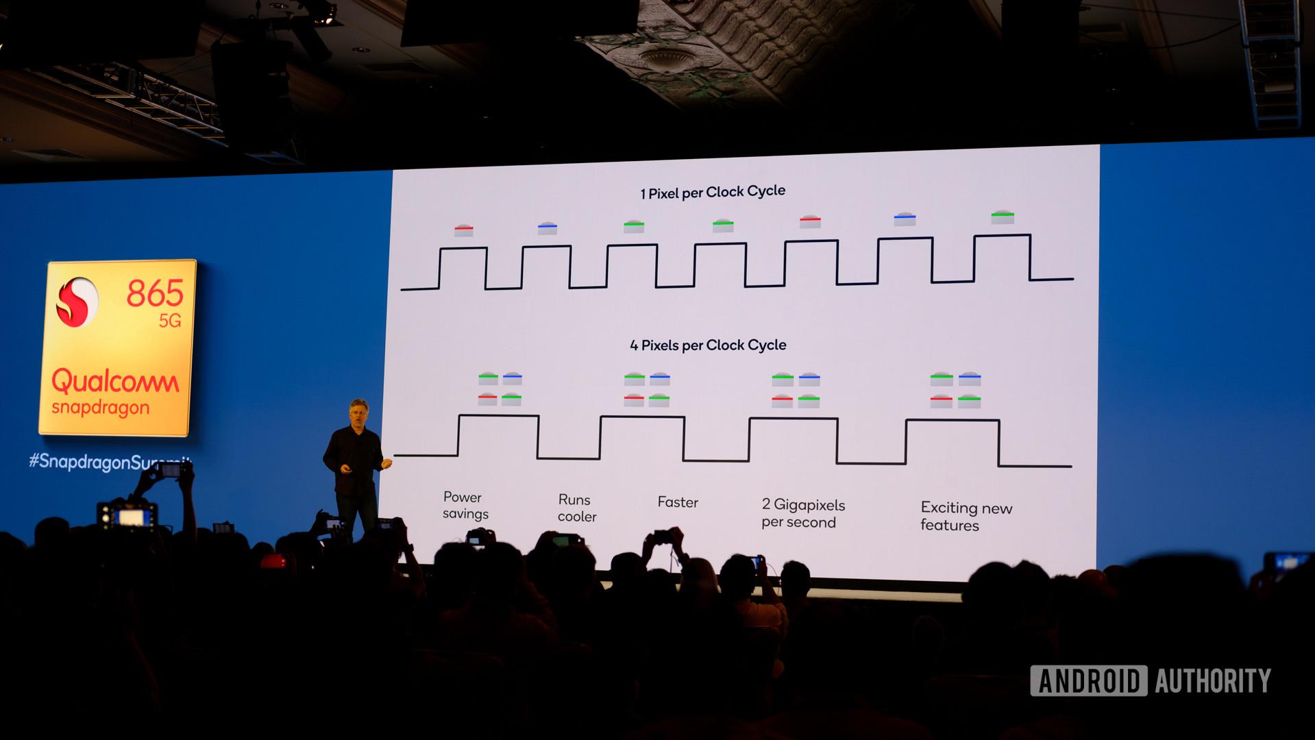 Qualcomm Snapdragon 865 dropped clock rate slides
