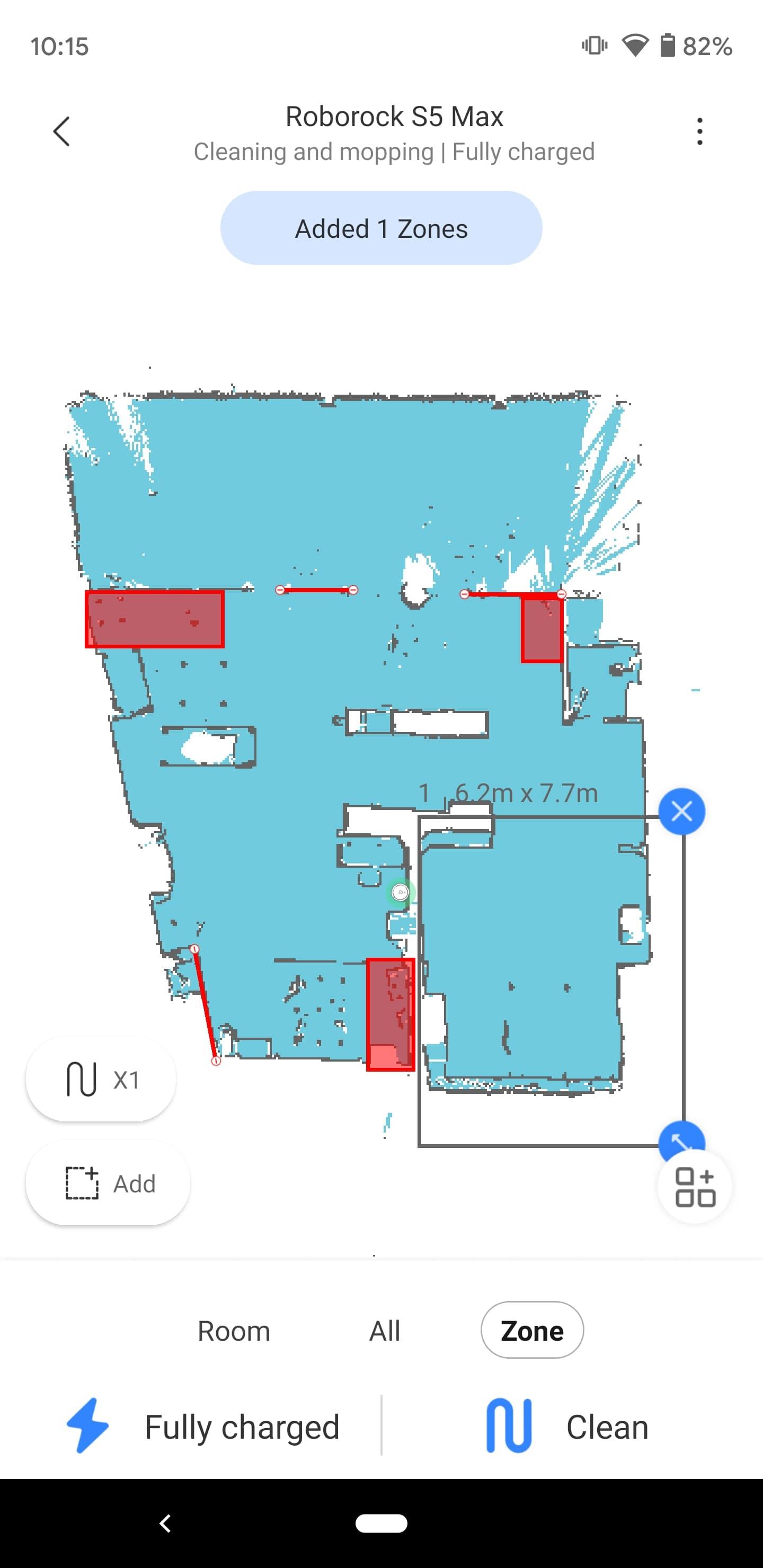 Roborock S5 Max Mi Home app Zones 1