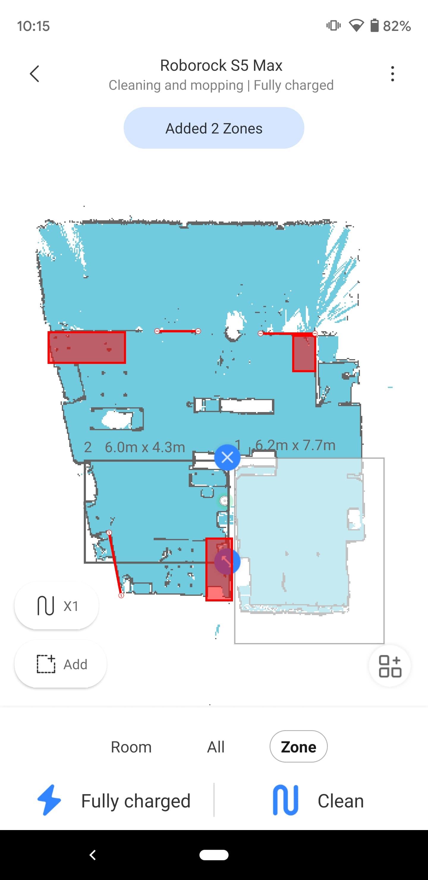 Roborock S5 Max Mi Home app Zones 2