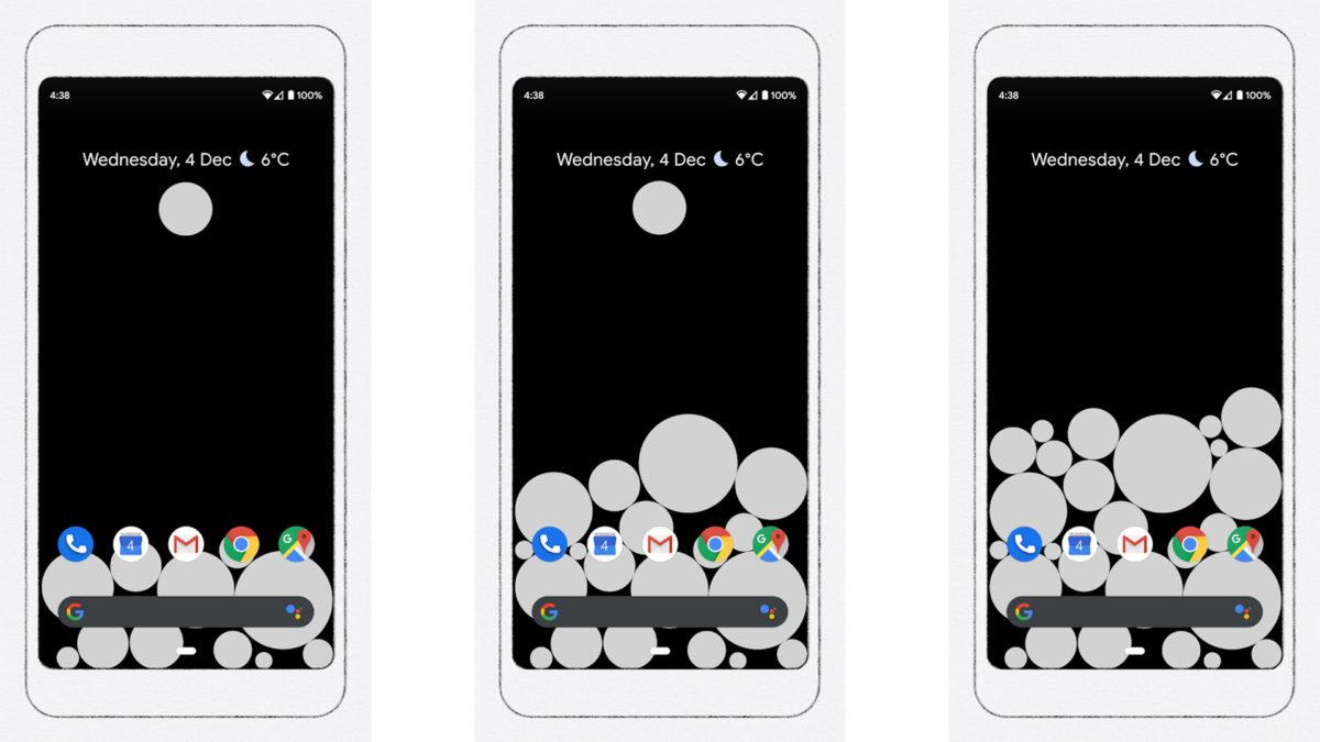 Activity bubbles screenshot