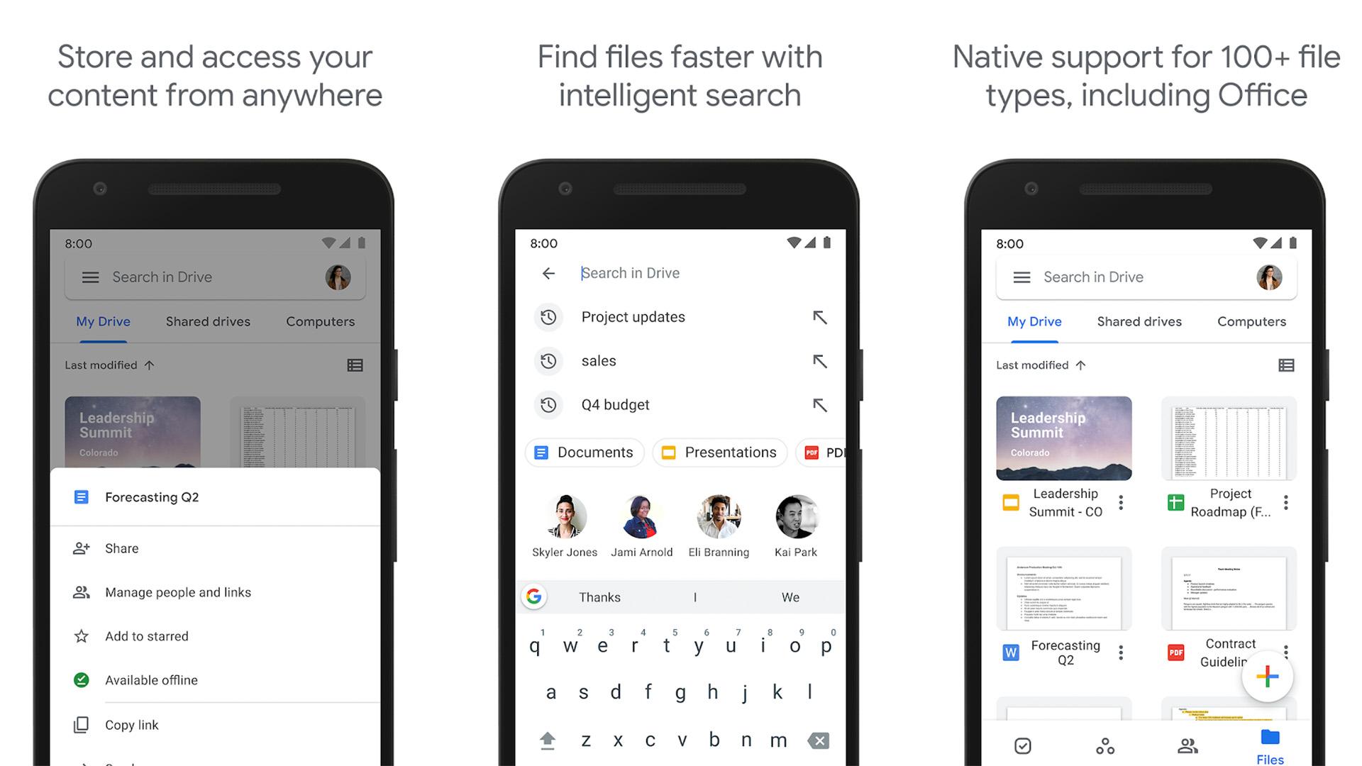 Google Drive screenshot 2020