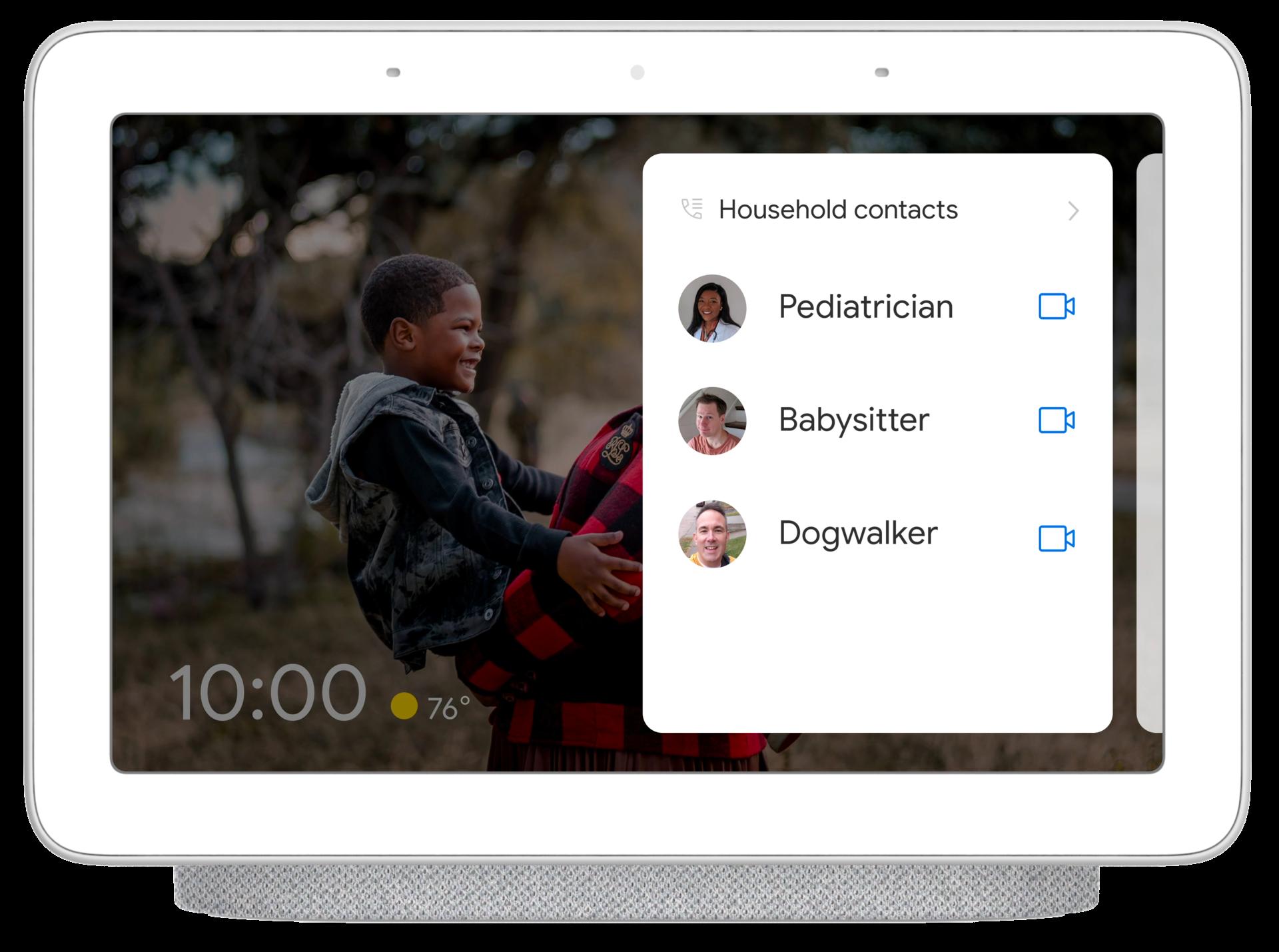 Google Nest Hub speed dial