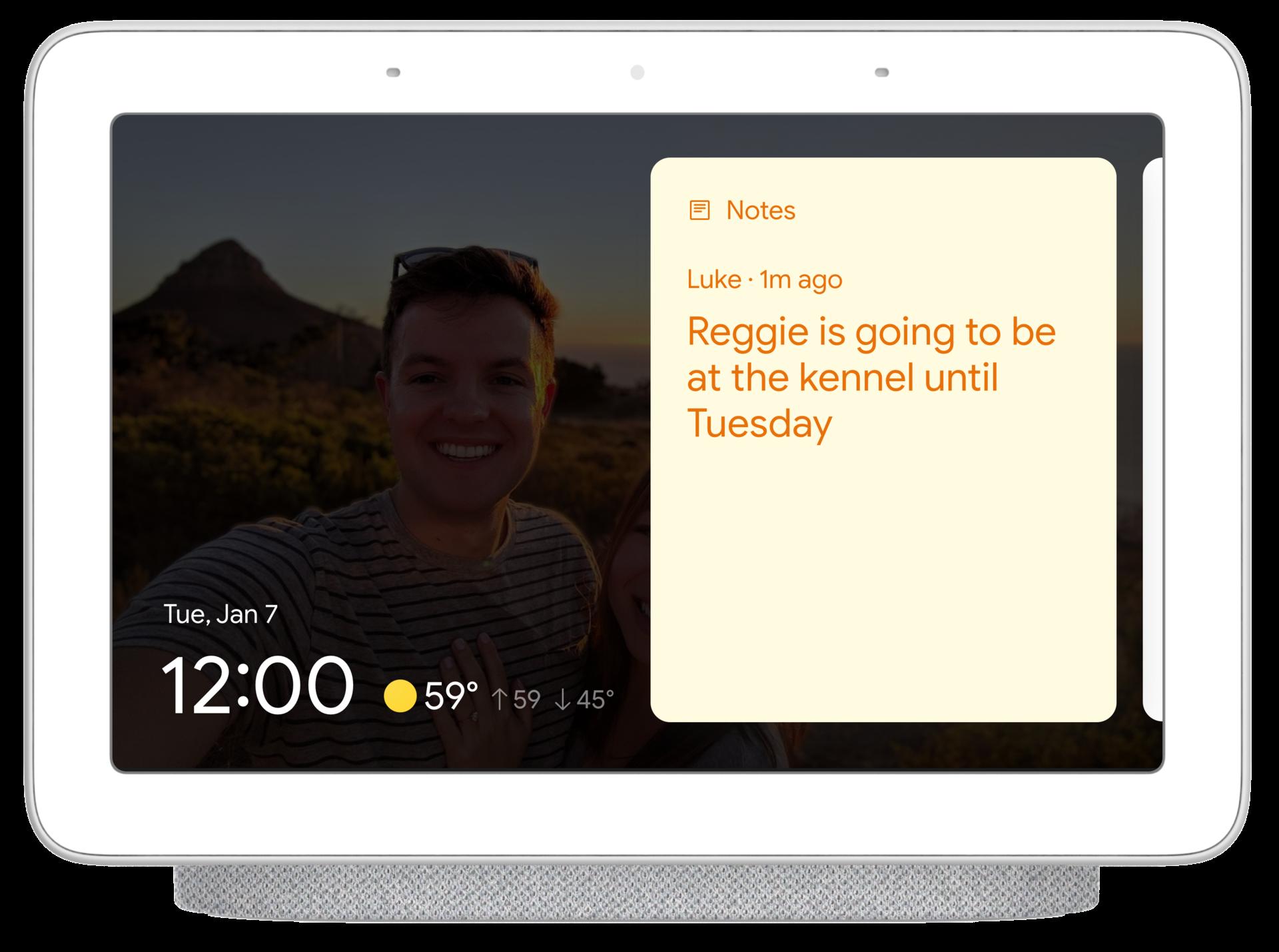 Google Nest Hub sticky notes 2