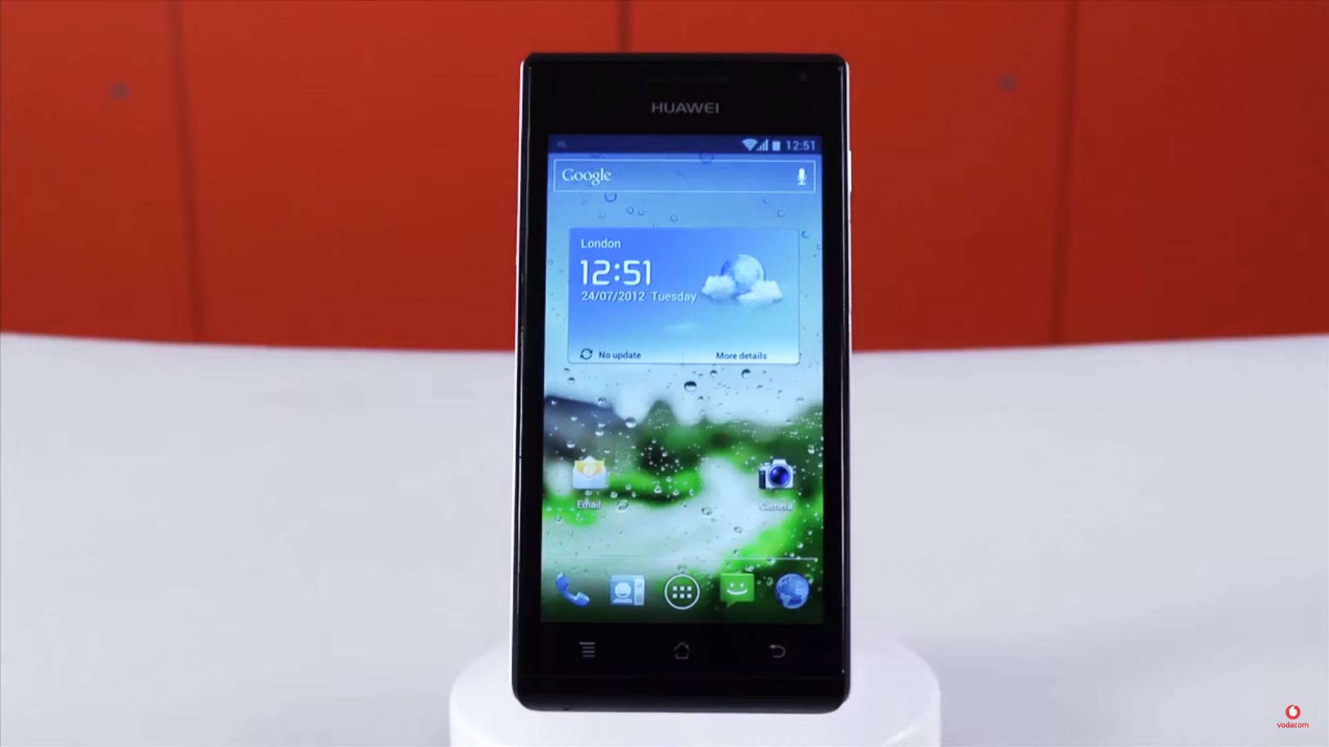 The Huawei Ascend P1 via Vodacom.