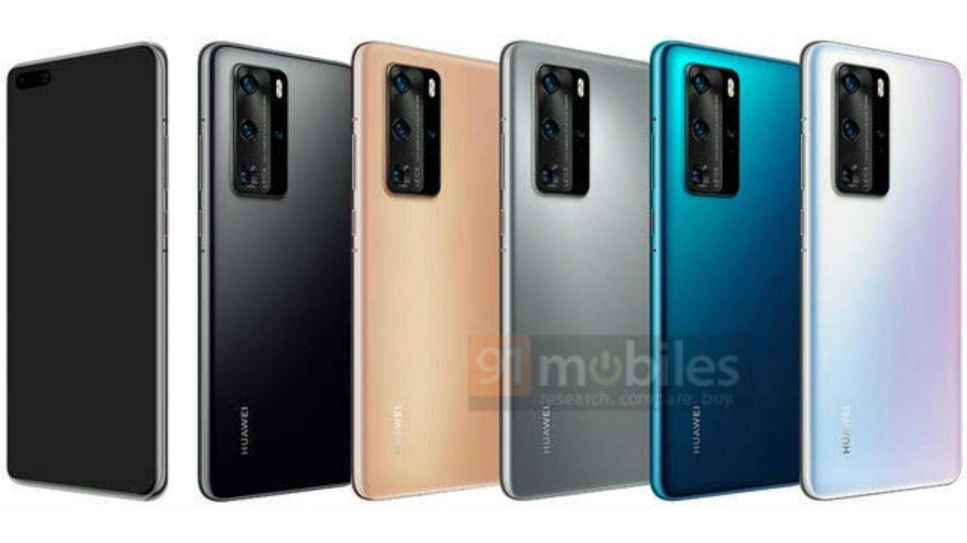 Huawei P40 P40 Pro Colorways Revealed In New Leak Update Mint Green