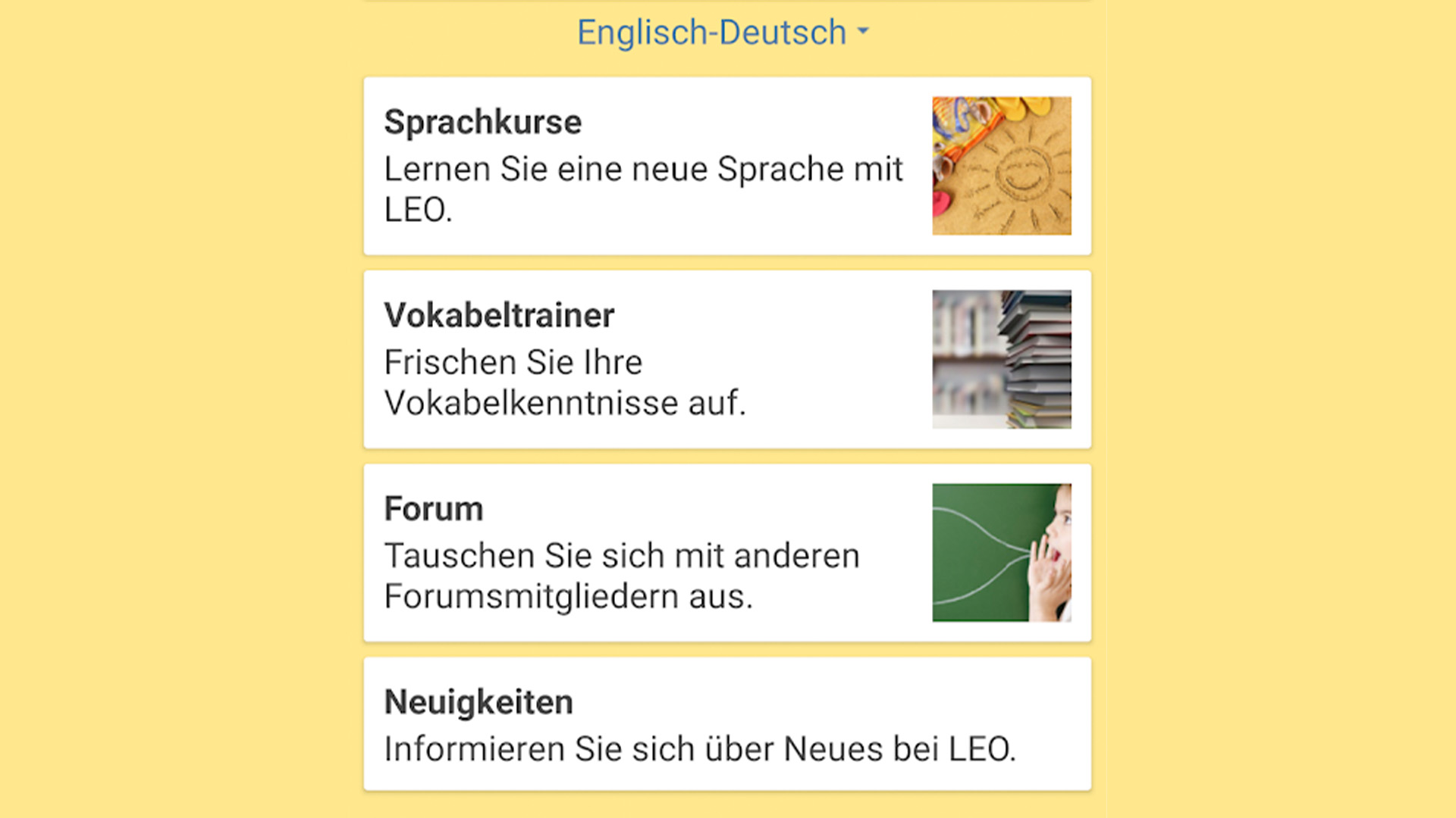 LEO dictionary best german learning apps for Android