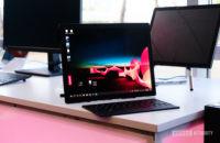 Lenovo Thinkpad X1 Fold on table unfolded 1