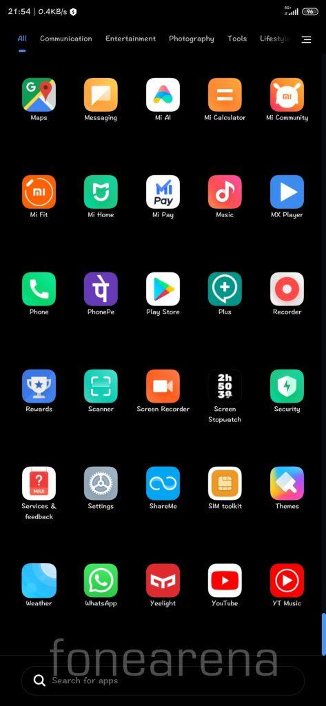 MIUI Launcher App Drawer FoneArena 2