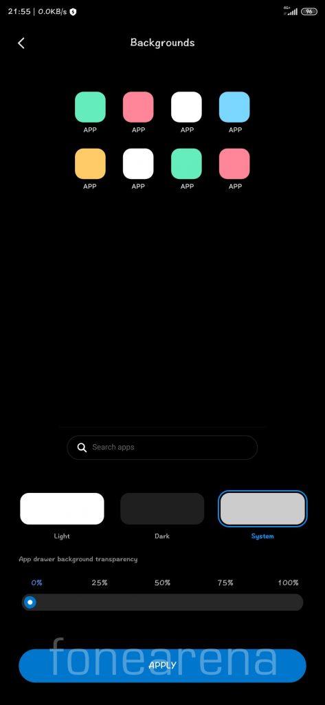 MIUI Launcher App Drawer FoneArena 6