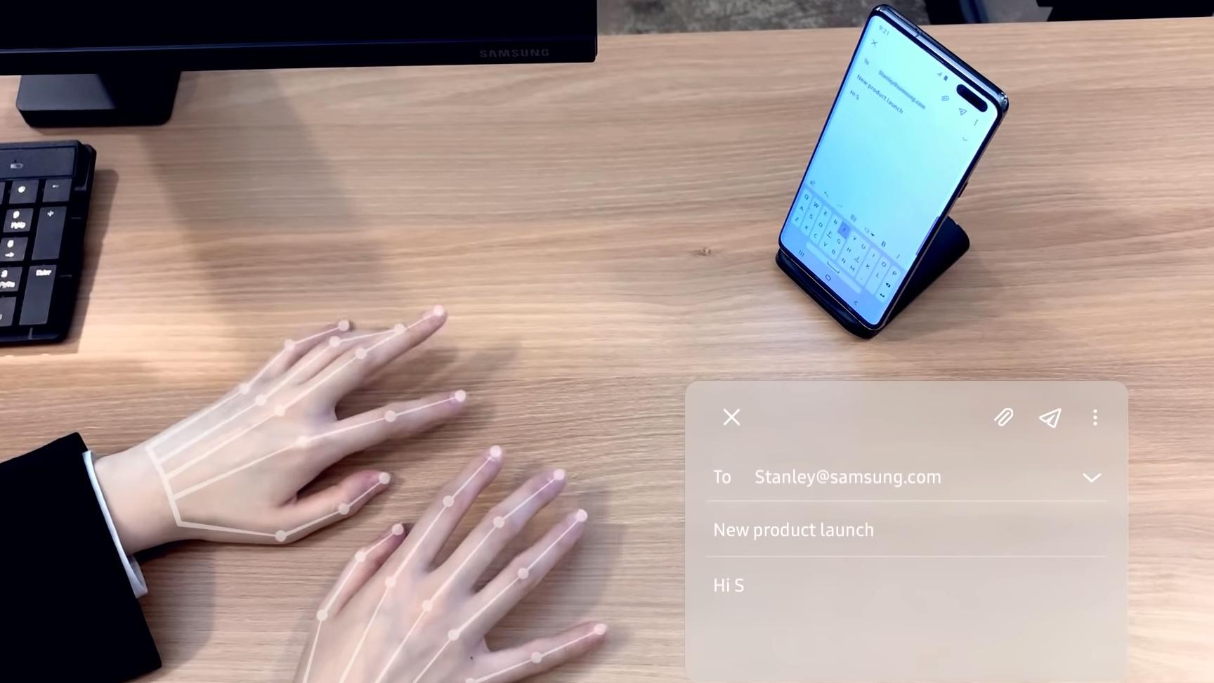 Samsung Selfie Type Still From Demo Video
