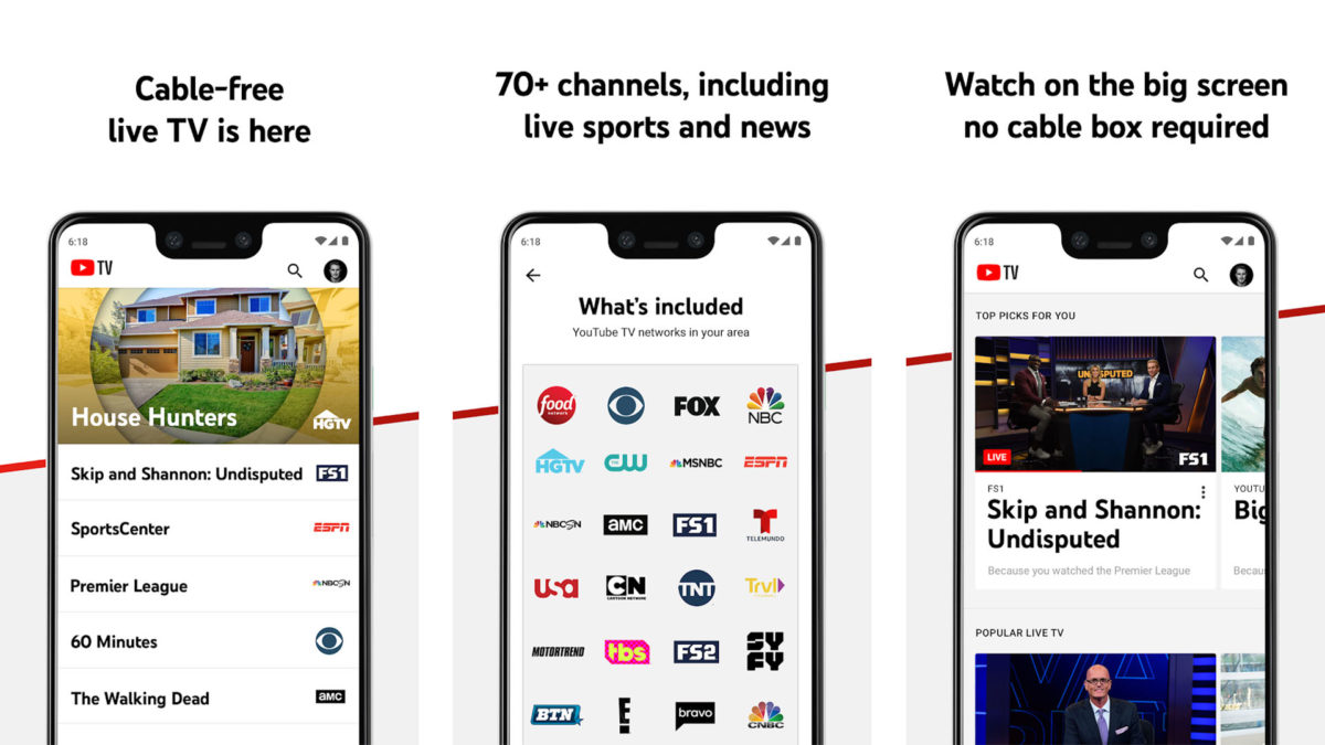 YouTube TV screenshot 2020