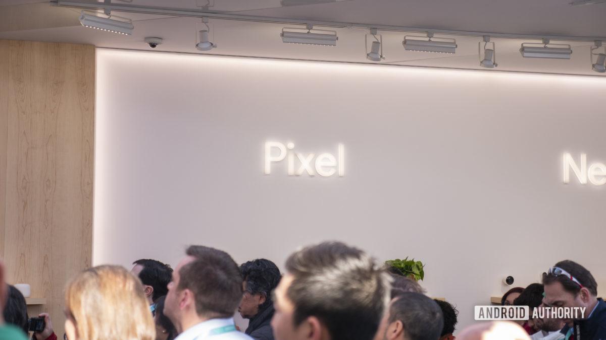 google pixel logo at ces 2020