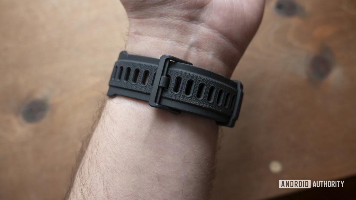 huami amazfit t rex smartwatch strap on wrist 1