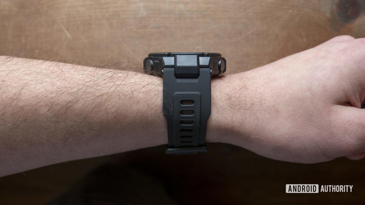 huami amazfit t rex smartwatch strap on wrist 2
