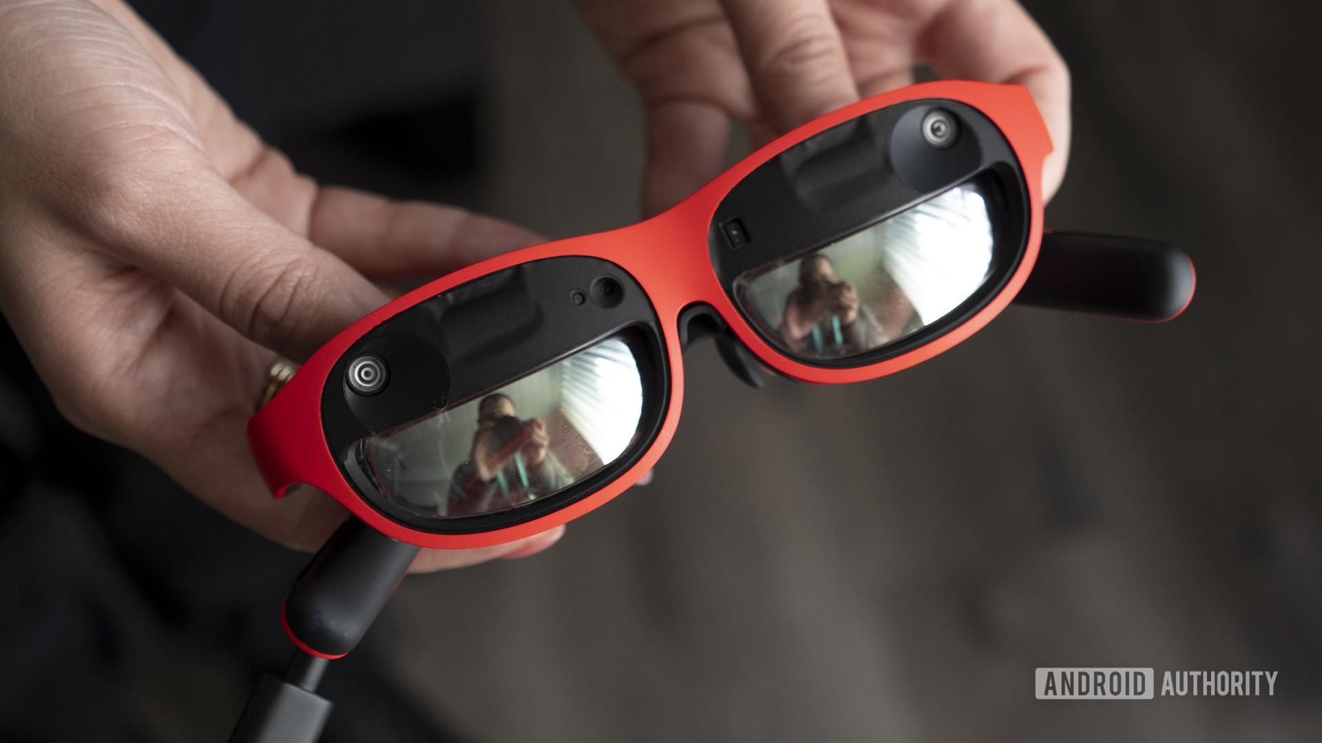nreal nebula mixed reality glasses in hand 1