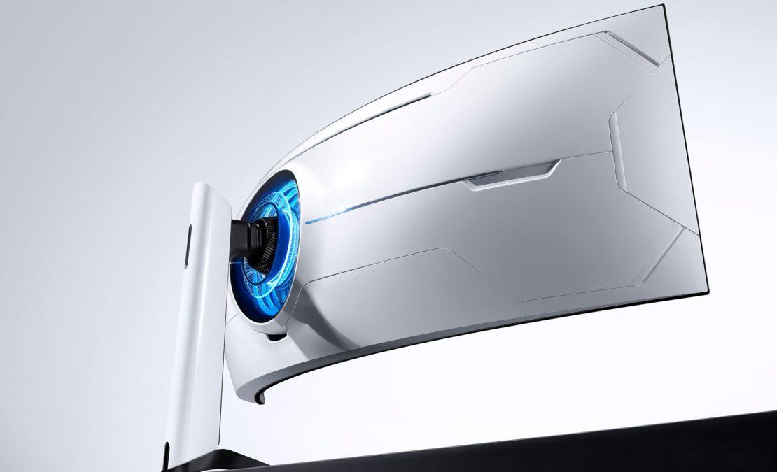samsung odyssey g9 monitor back ultrawide